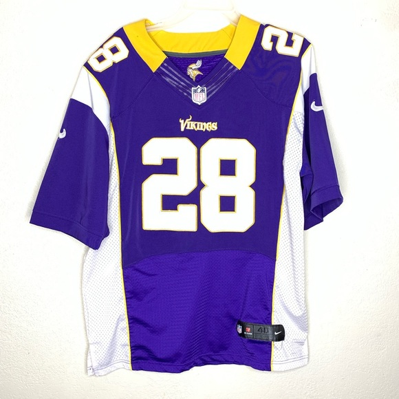 more photos 95673 6ebc3 Nike NFL on field jersey MN Vikings size med #28
